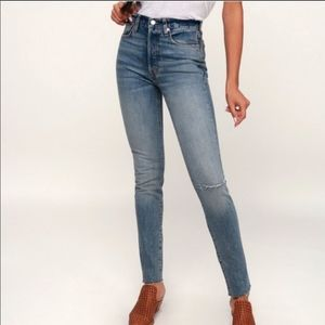 NWT Free People Stella We The Free Raw Hem Jeans